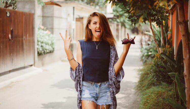 Hipster Girls smiling funny